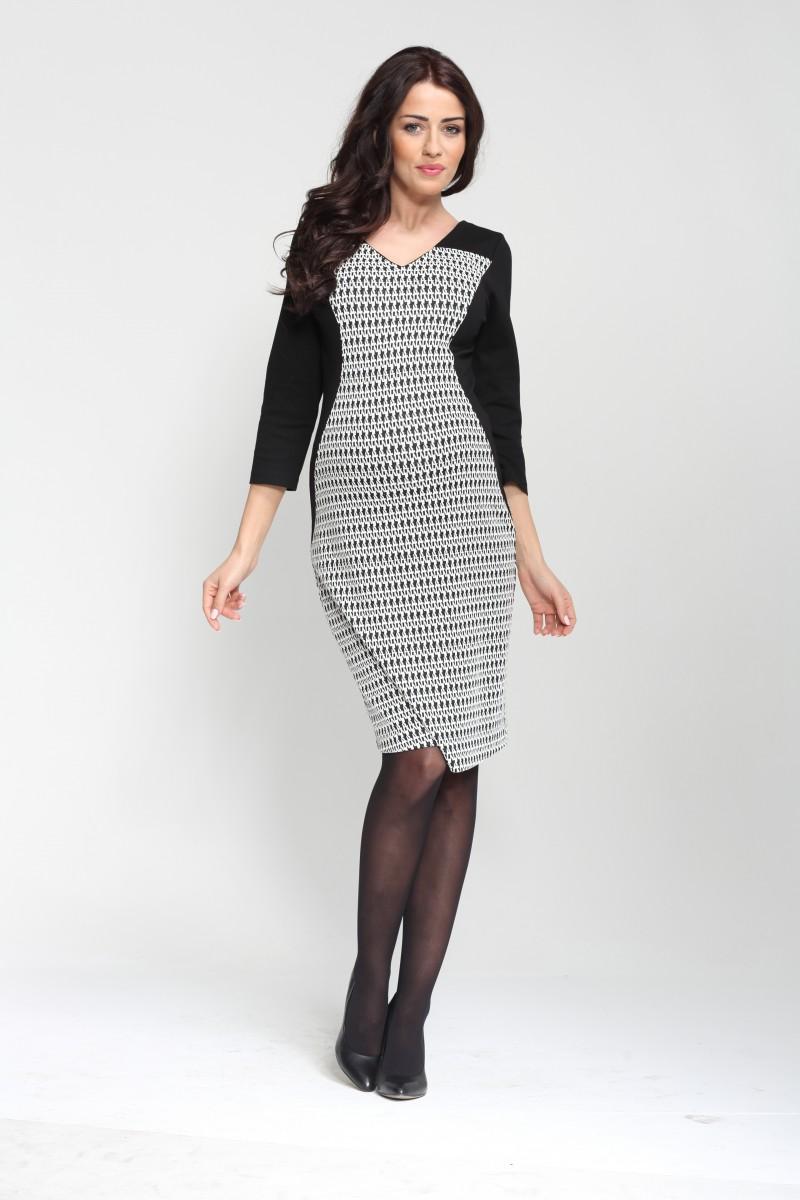 Těhotenské šaty SHARON černobílé  a1bbb85051