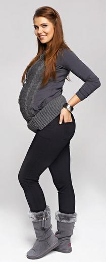 Těhotenské teplé legíny kalhoty BELLY 808981ed66